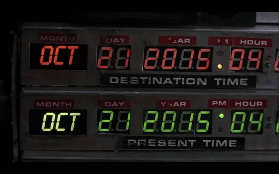 El reloj de 'Regreso al futuro'
