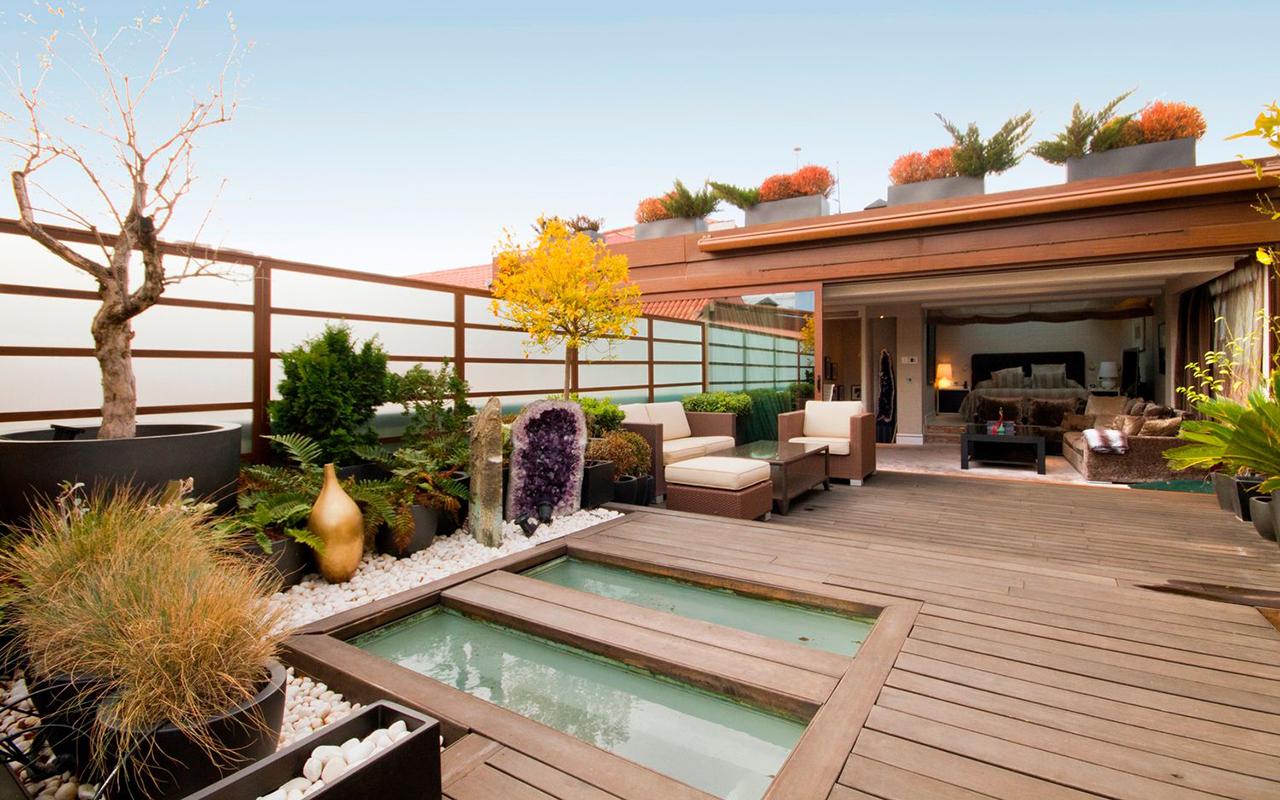 Pisos con terraza en las principales ciudades espa olas for Ideas para decorar azoteas