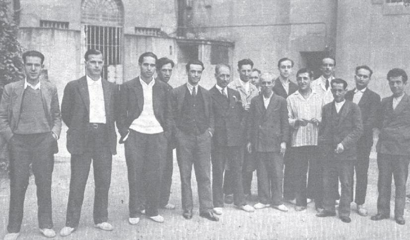 presos en 1930, entre ellos, Lluís Companys (centro). / Wikimedia commons