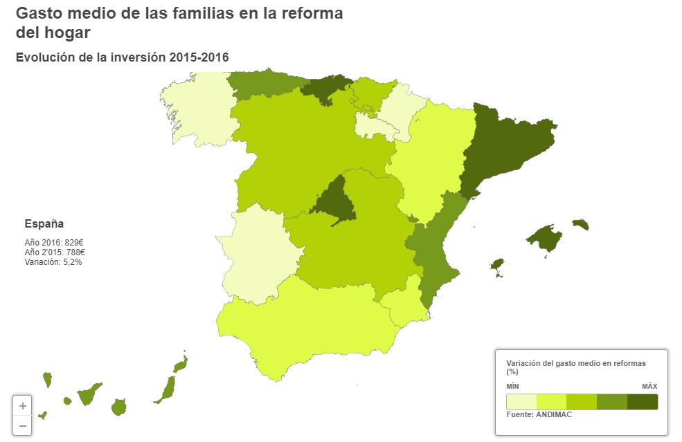 las familias gastan un ms en la reforma de su casa descubre las regiones donde hay ms ucambios de carau