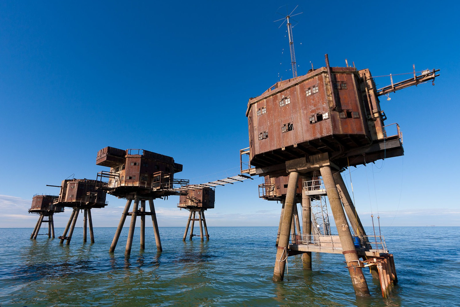 Las Fortalezas marinas de Maunsell (Reino Unido)