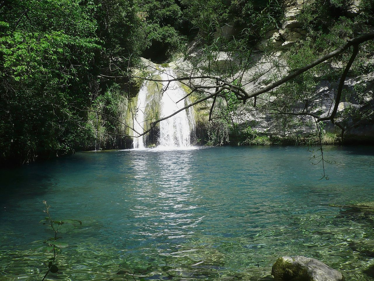 Poza del Gorg Blau de Sant Aniol d'Aguja