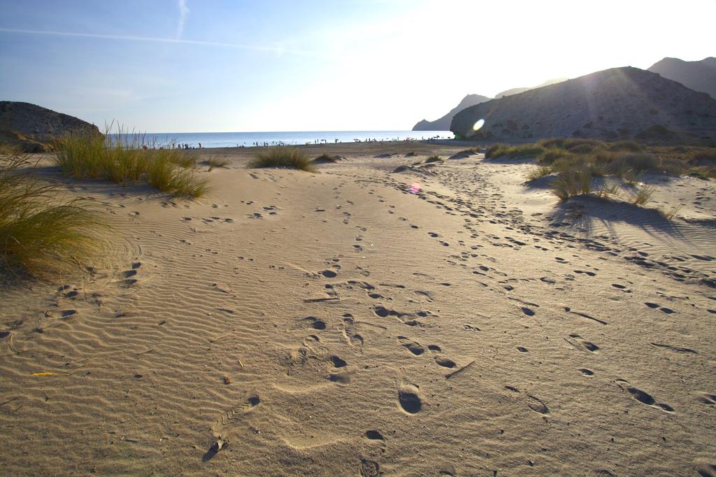 Playa El Monsul en el Cabo de Gata