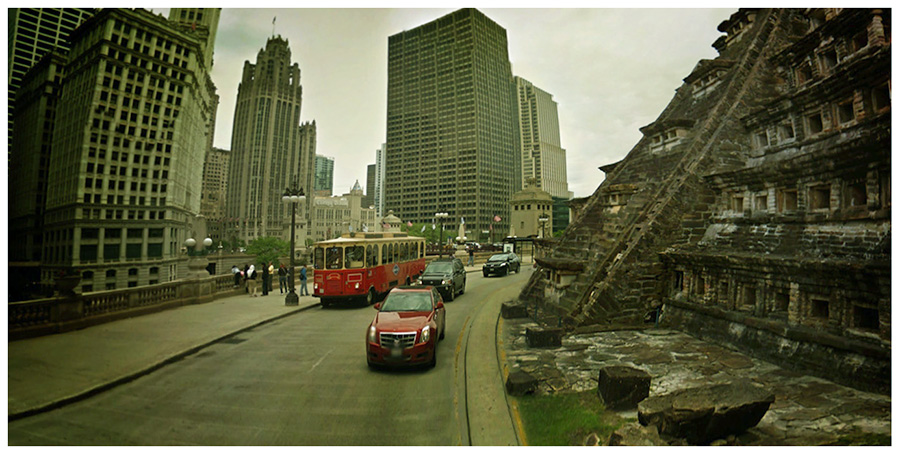 cinemascapes: my street view edition - ancient Chicago