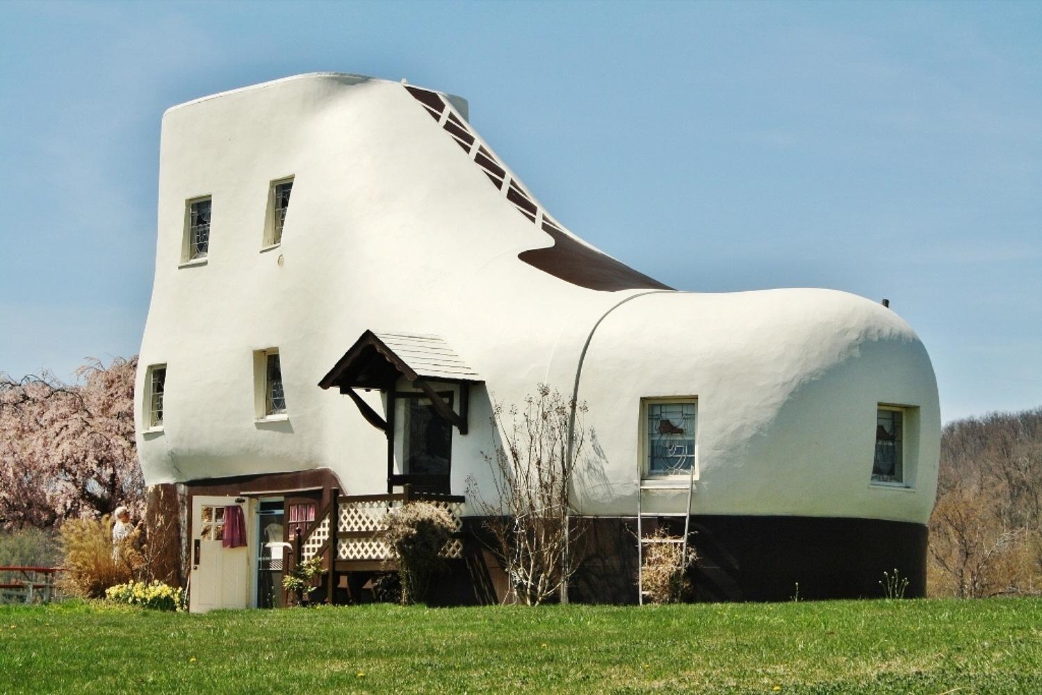 Haines Shoe House en Hallam Pennsylvania (EEUU)