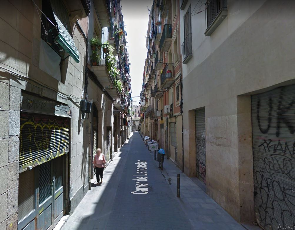 calle Lancaster, del barrio el Raval de Barcelona / Google Maps