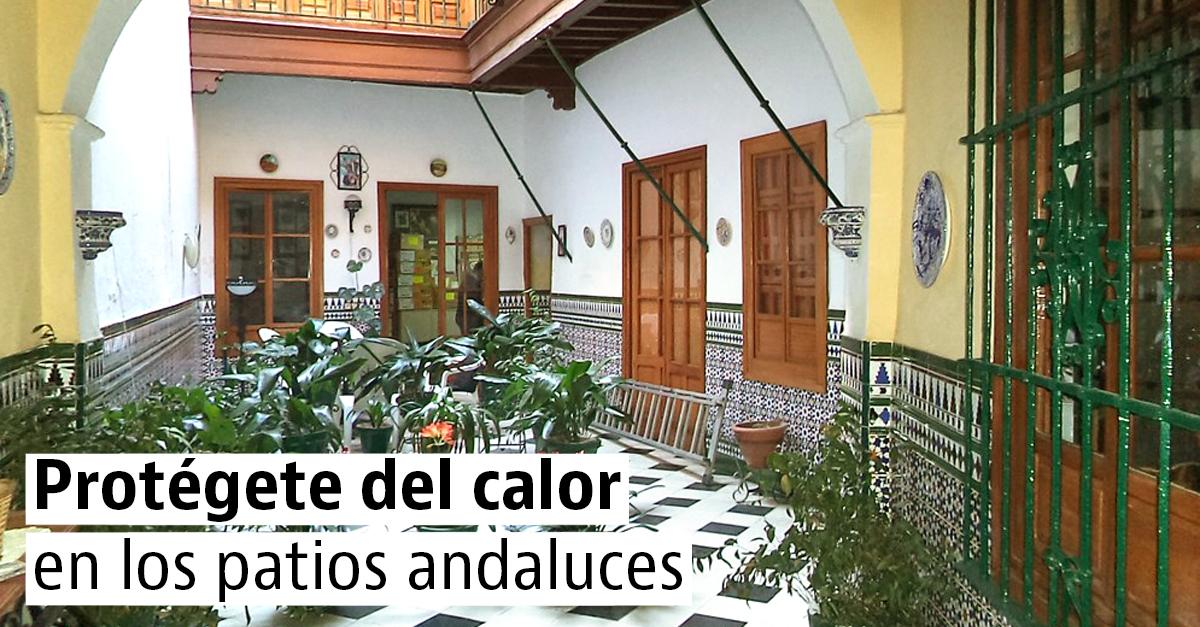 Casas con patio interior de estilo andaluz