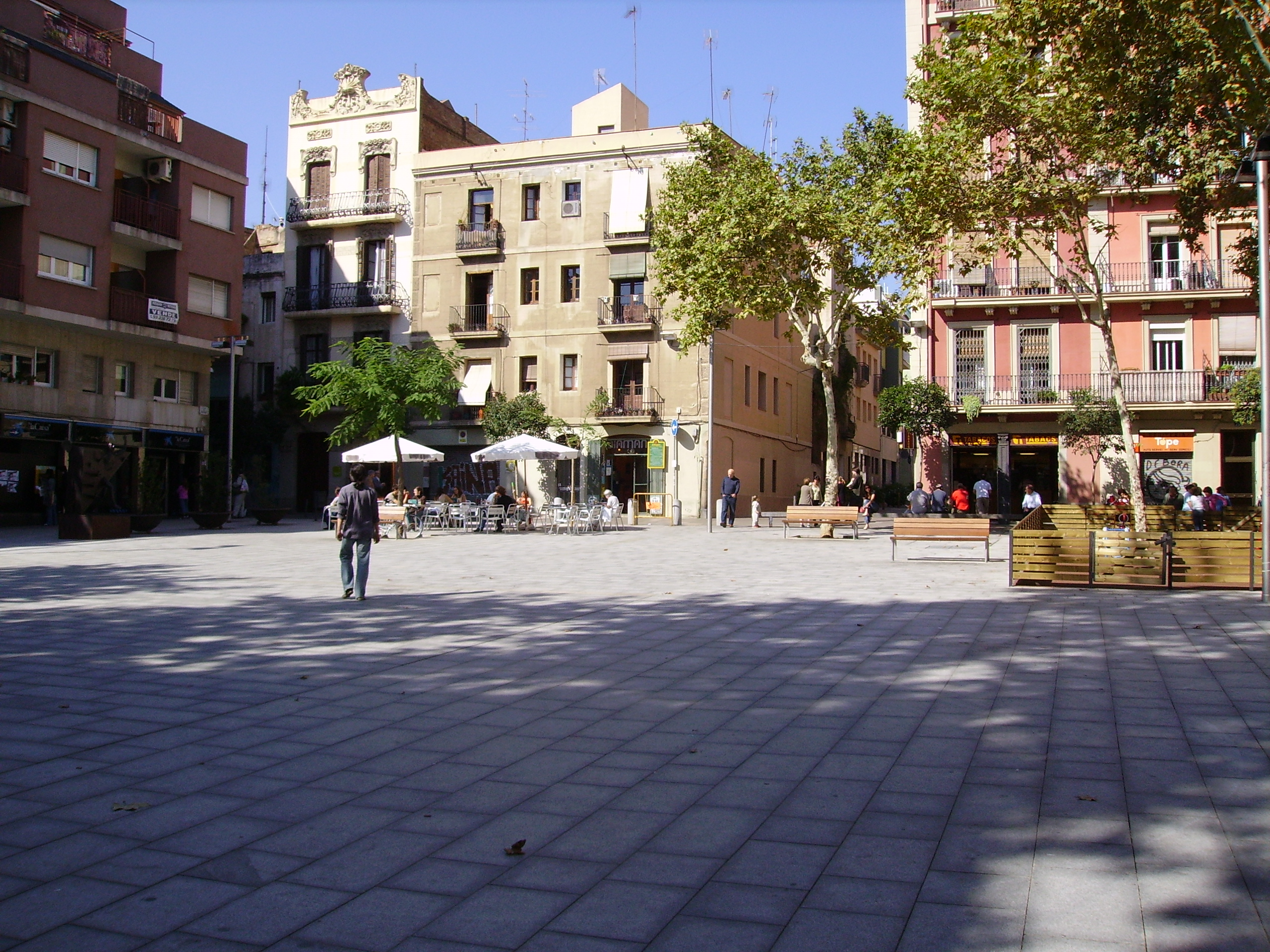 Plaza del Diamante, en Gràcia. / Wikimedia commons