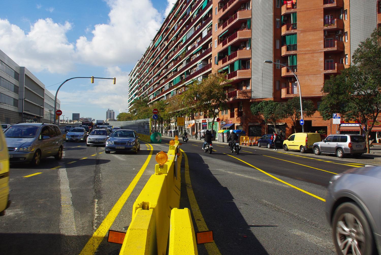acceso de la c-31, a la altura de Glòries / Ajuntament de Barcelona