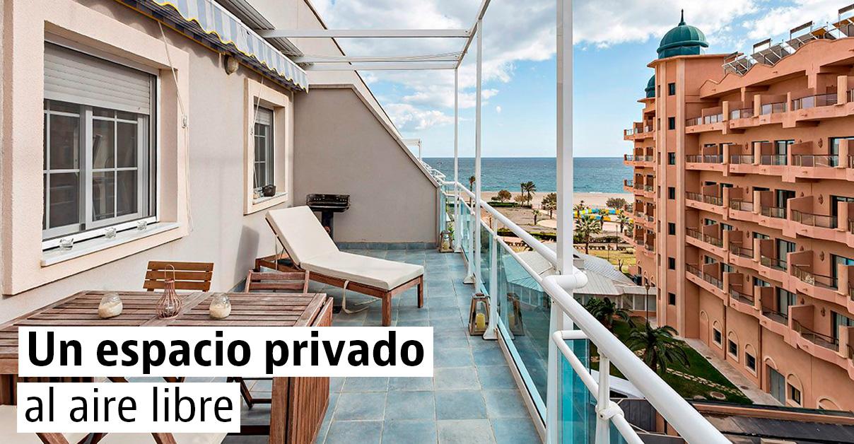 Pisos con terraza en las principales ciudades españolas
