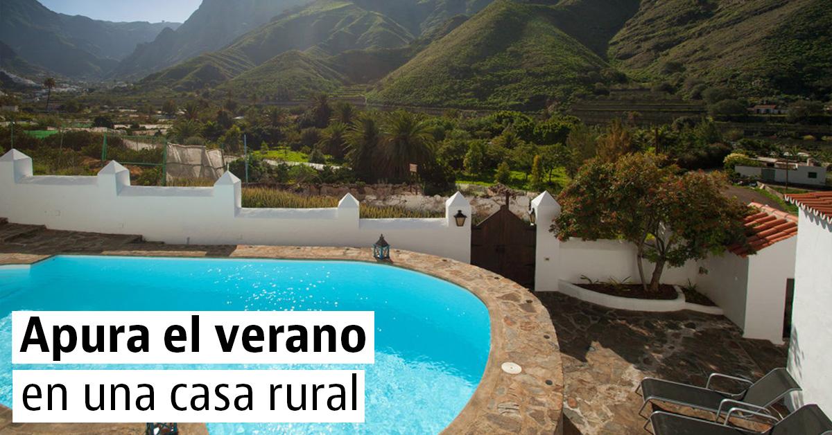 Alojamientos para vacaciones con piscinas originales for Escapada rural piscinas naturales