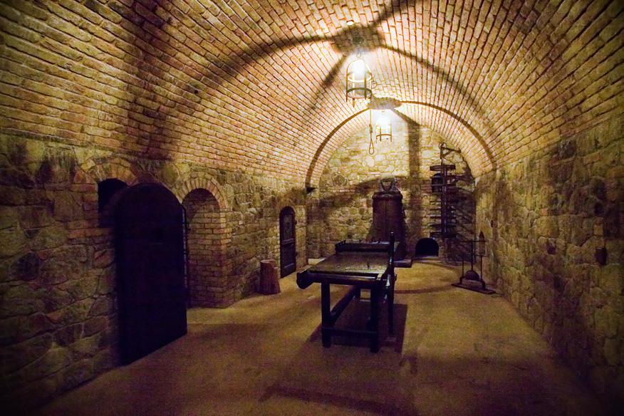 El castillo incluye sala de torturas