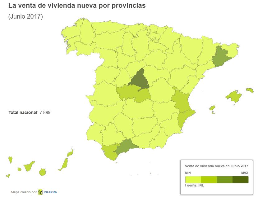 8f9ce5e9fb4bc Mapa por provincias para saber dónde se vendieron más y menos viviendas  nuevas y usadas — idealista news