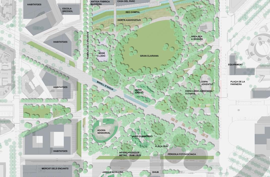 plano del futuro parque de Glòries / Ajuntament de Barcelona