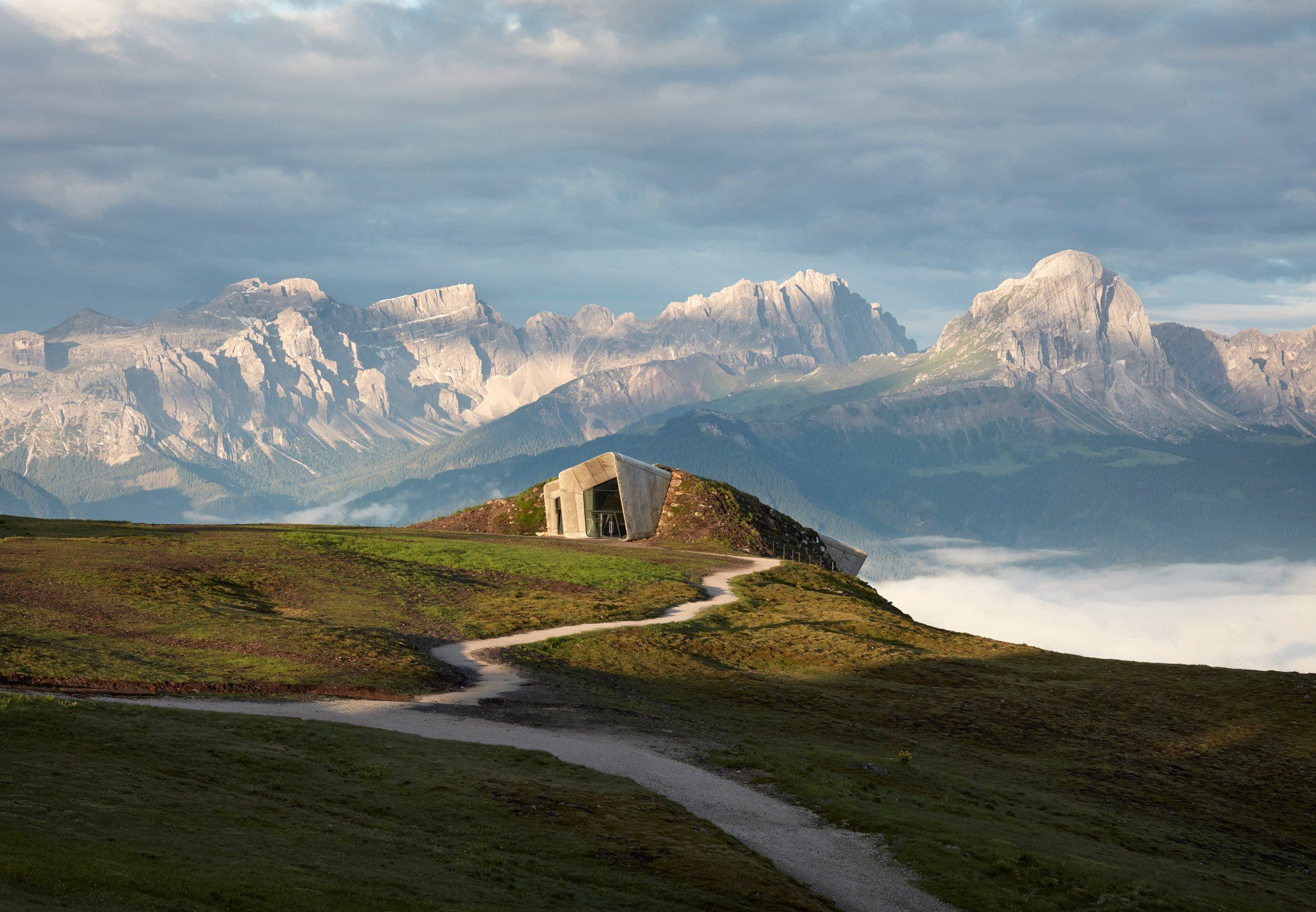 Messner Mountain Museum Corones, South Tyrol, Italy, by Zaha Hadid Architects
