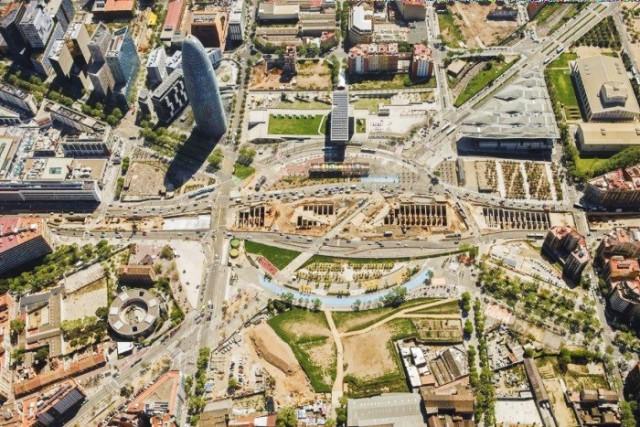 Vista aérea de la Plaça de les Glòries de Barcelona / Ajuntament de Barcelona