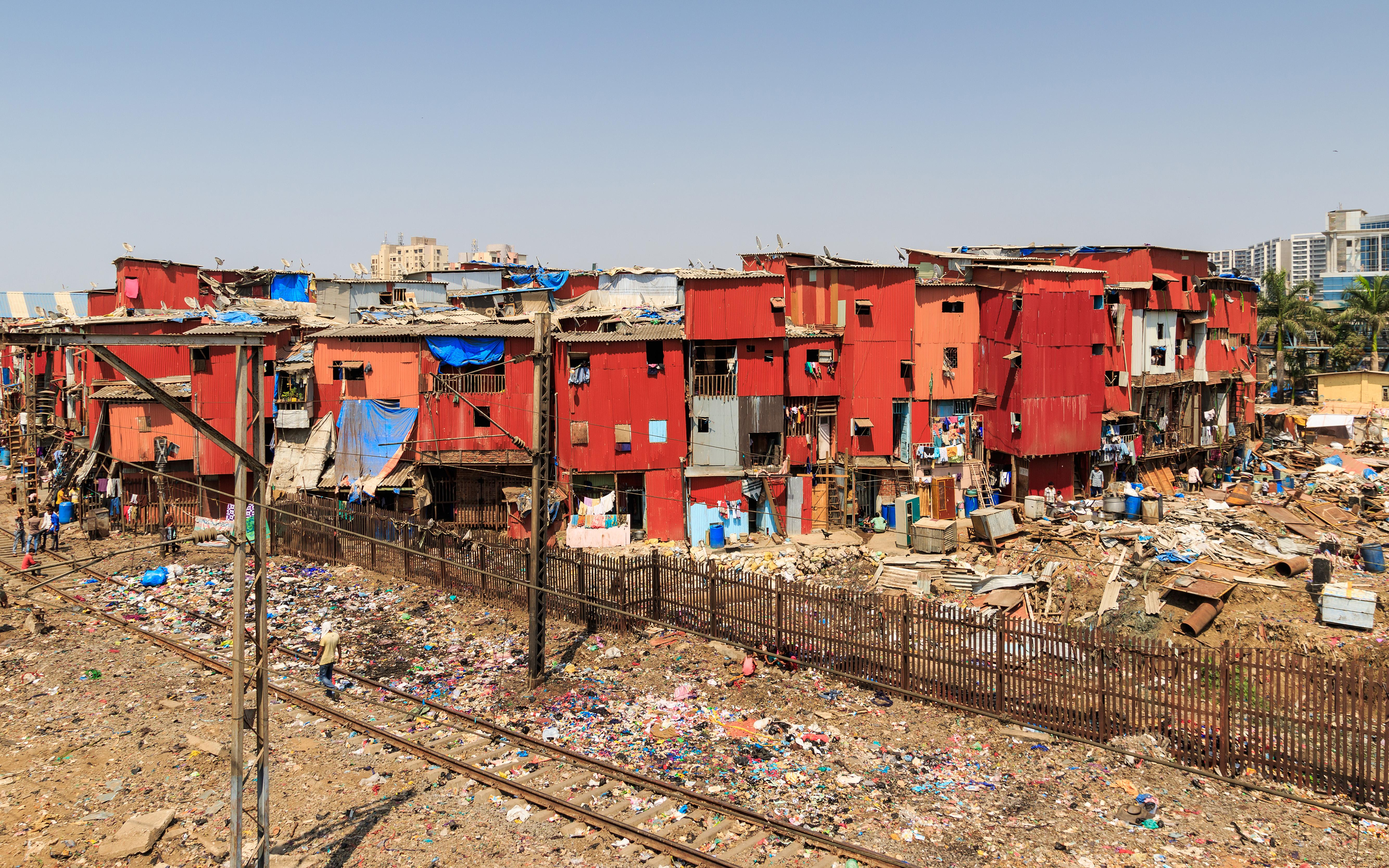 Chabolas de Bombay / Wikimedia commons
