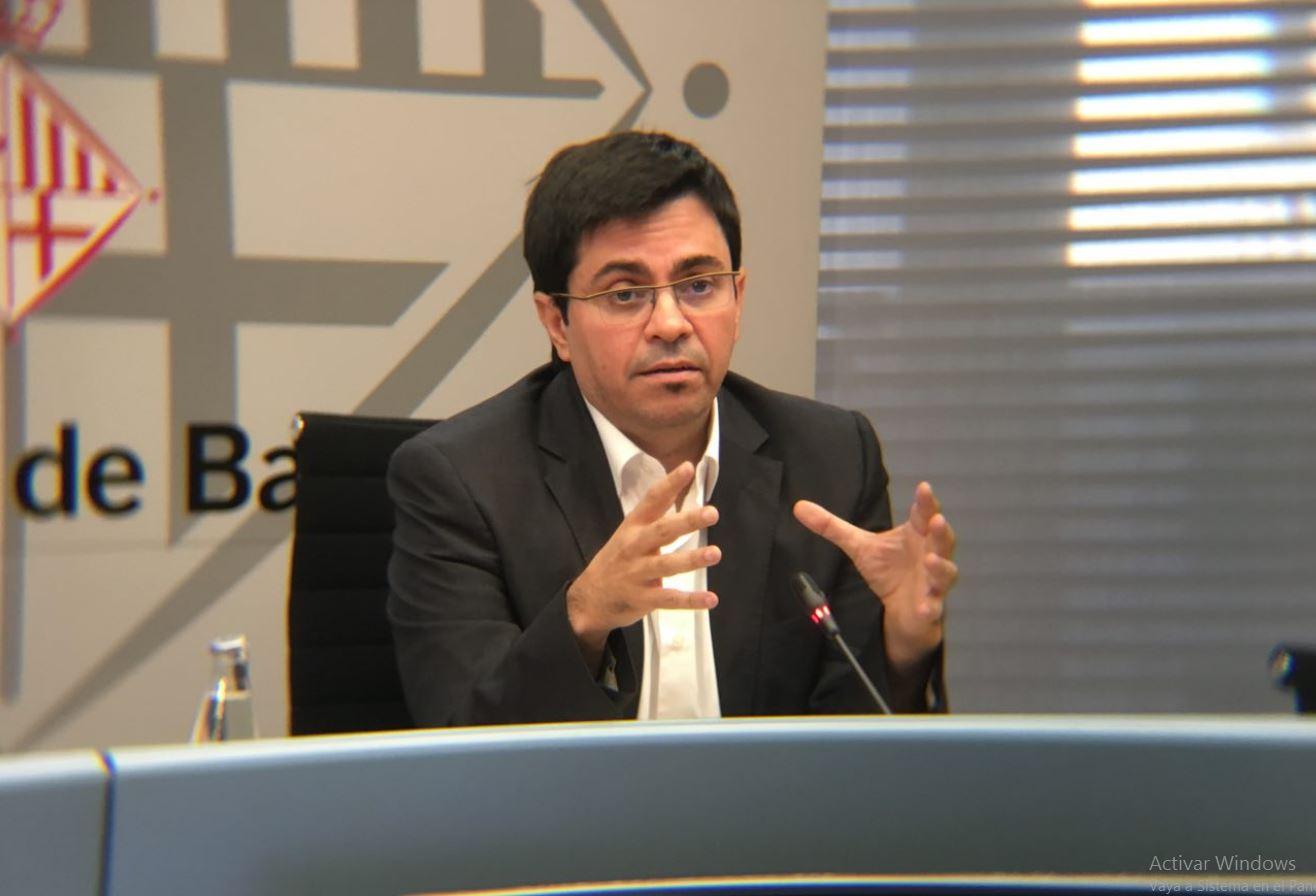 El primer teniente alcalde, Gerardo Pisarello, en la presentación de los Presupuestos 2018 / Ajuntament de Barcelona