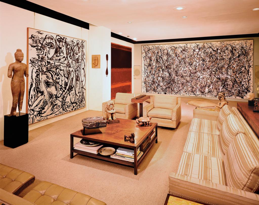Salón de Heller con la obra 'One' de Jackson Pollock