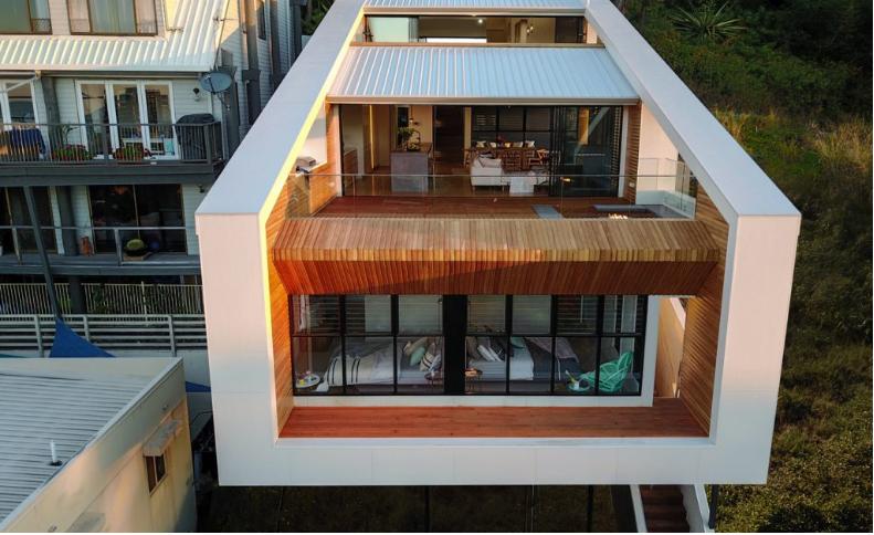 Una casa con tres alturas