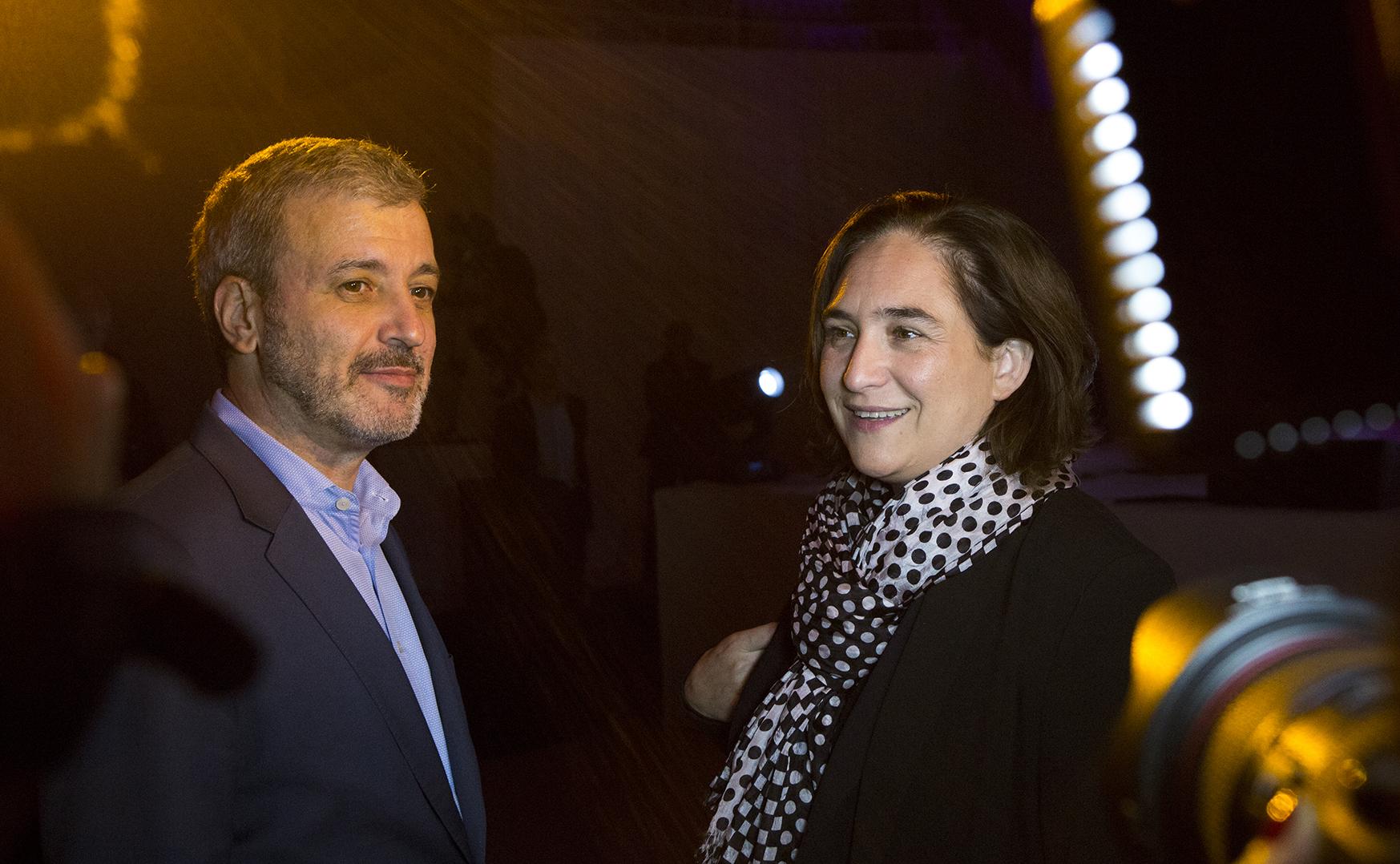 Jaume Collboni (PSC) y Ada Colau (BenComú) en la Gala de los premios Comerç BCN el pasado 6 de noviembre / Ajuntament de Barcelona