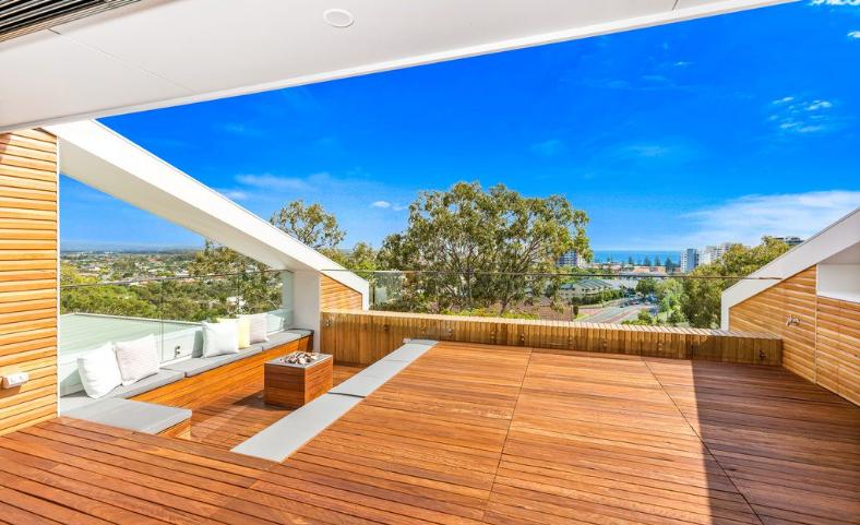 Una terraza para fiestas o para relajarse