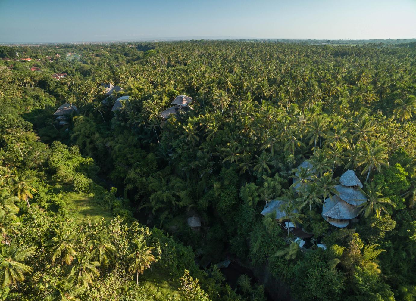 Green Village se encuentra en pleno bosque de Ubud, en la isla de Bali
