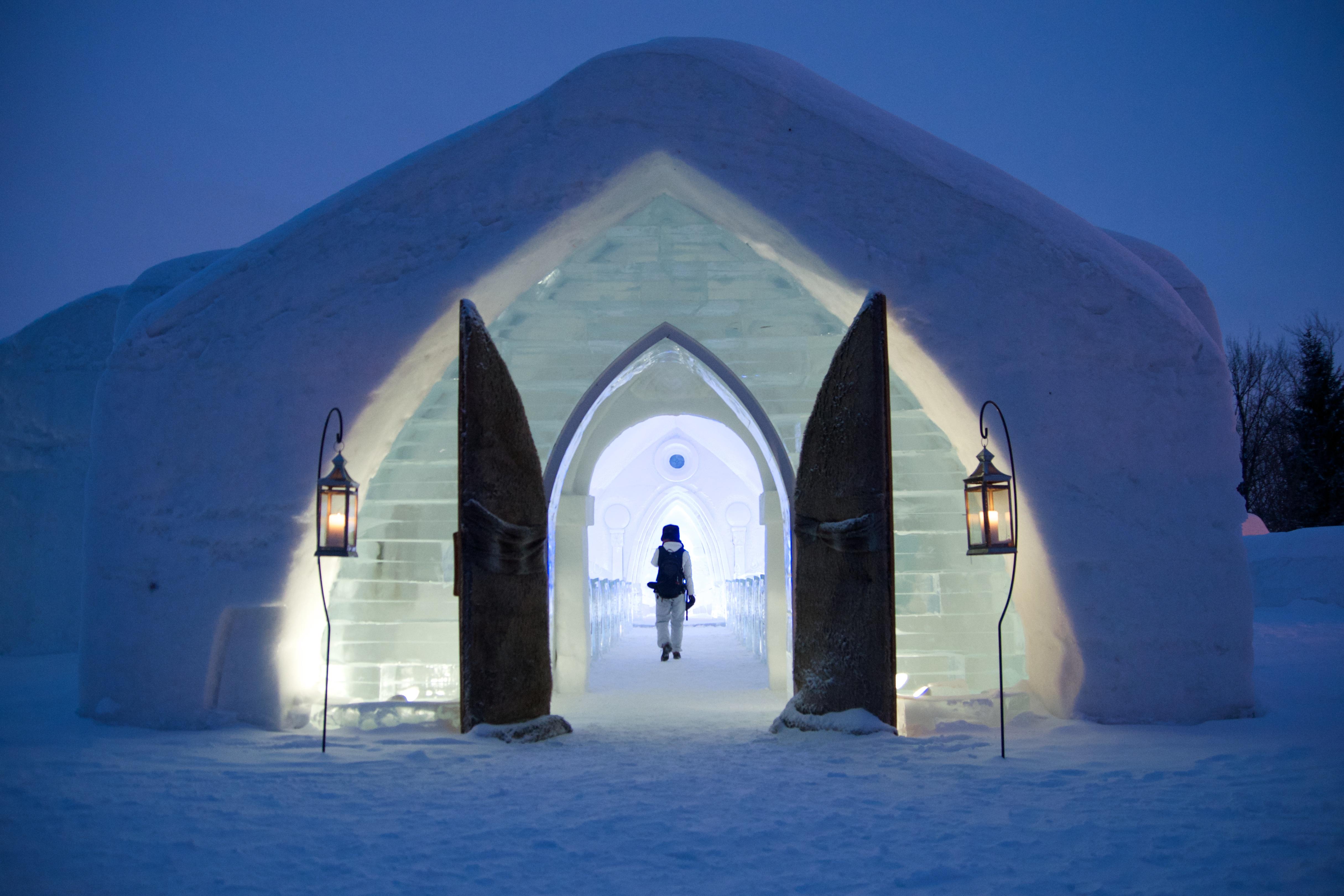 Un hotel hecho de hielo