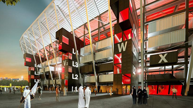El Mundial de Catar 2022 contará con el primer estadio desmontable hecho con contenedores marinos