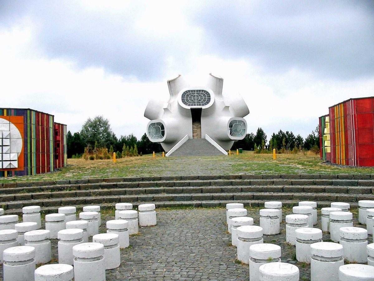 El monumento Makedonium en conmemoración de la guerra contra los turcos, en Macedonia