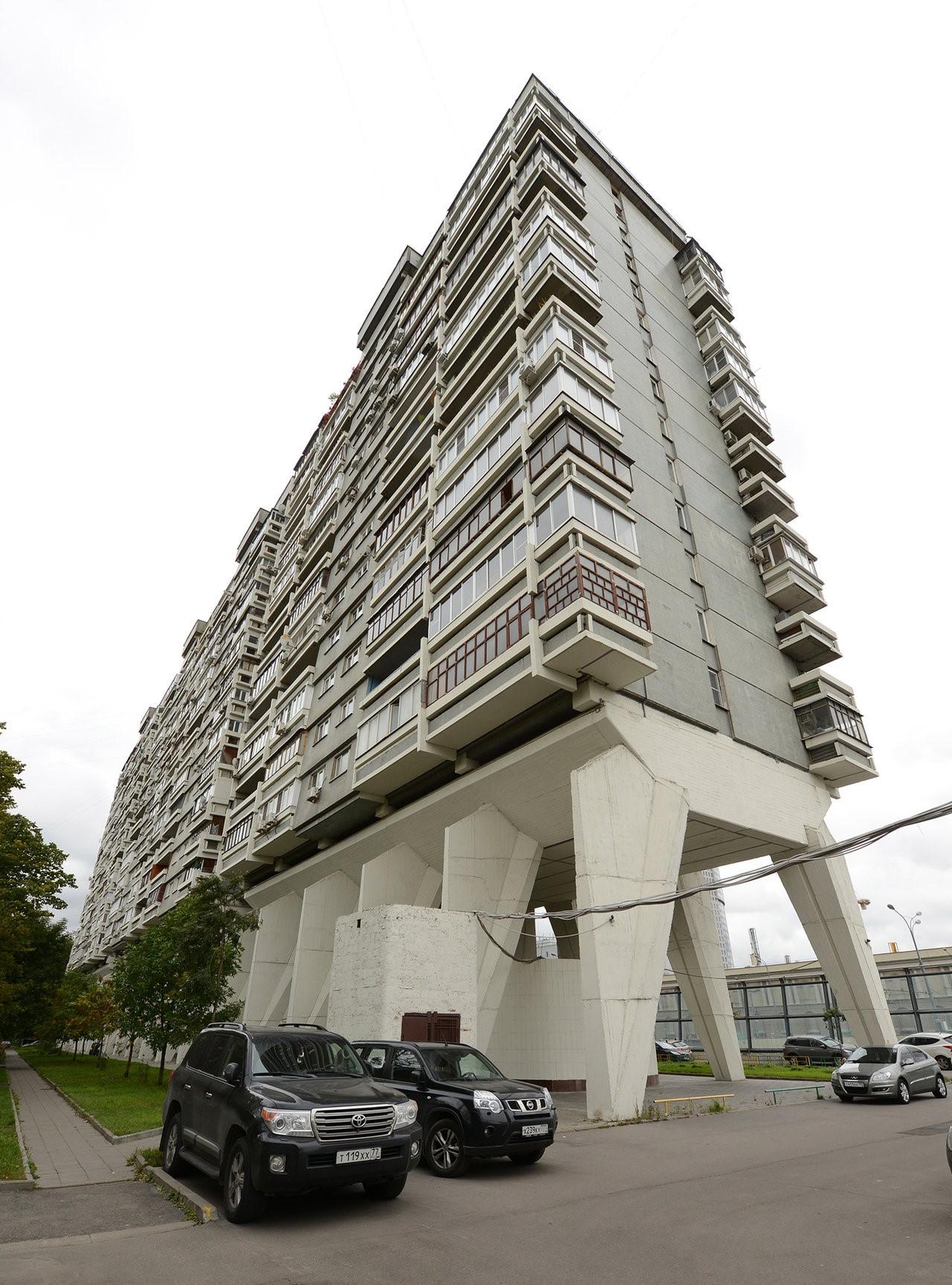 Edificio residencial en Begovaya Street, Moscú