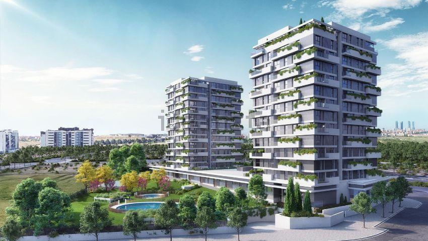Representación de cómo quedarían los terrenos por urbanizar de Valdebebas