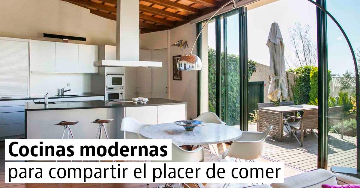 10 cocinas modernas con estilo en casas a la venta