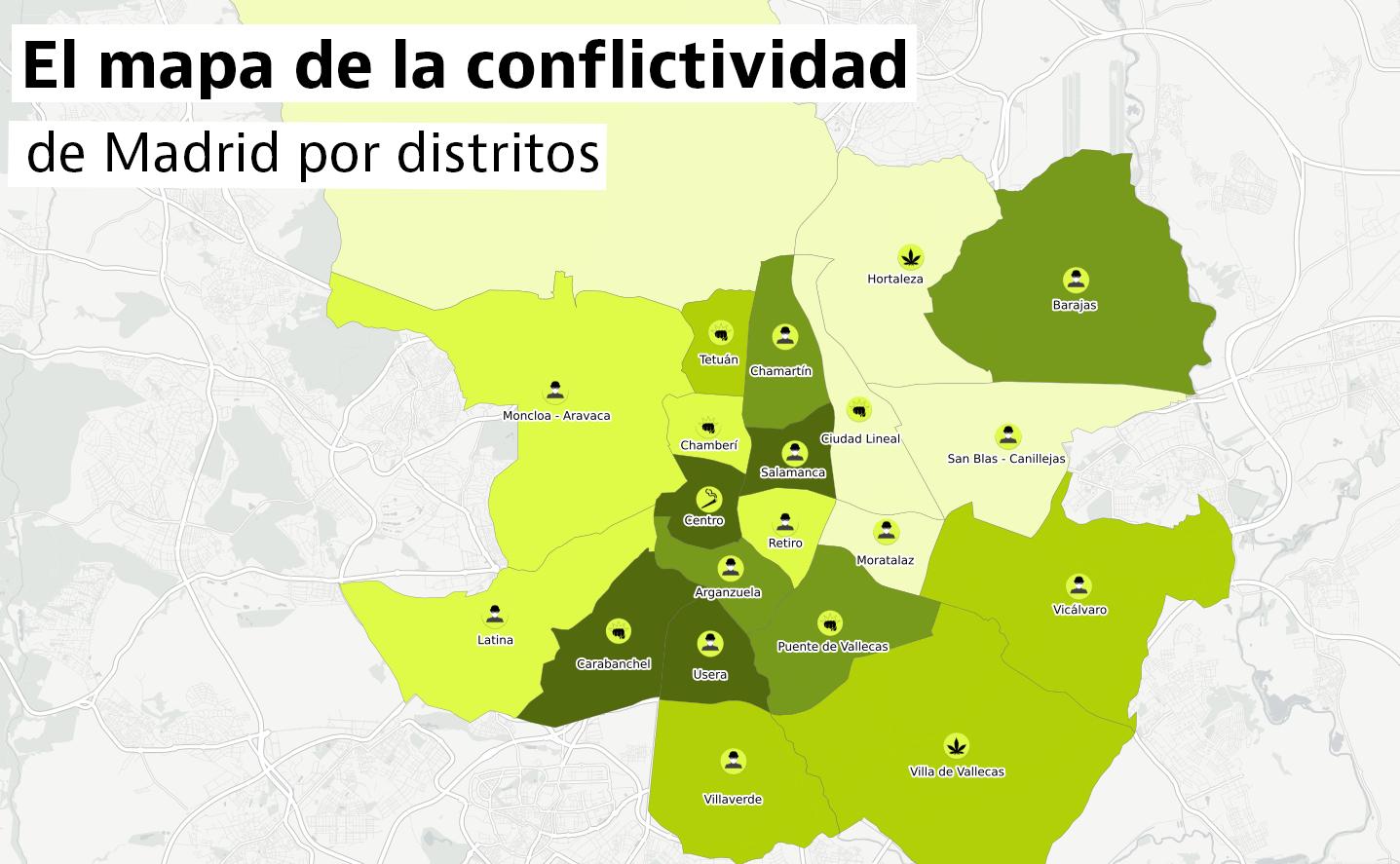 Si vas a comprarte casa en Madrid, conoce qué barrios son más tranquilos o conflictivos