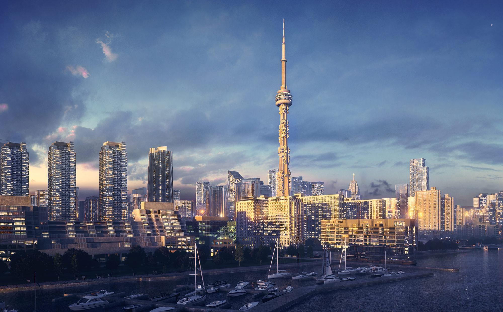 Una futura torre plagada de viviendas en Toronto