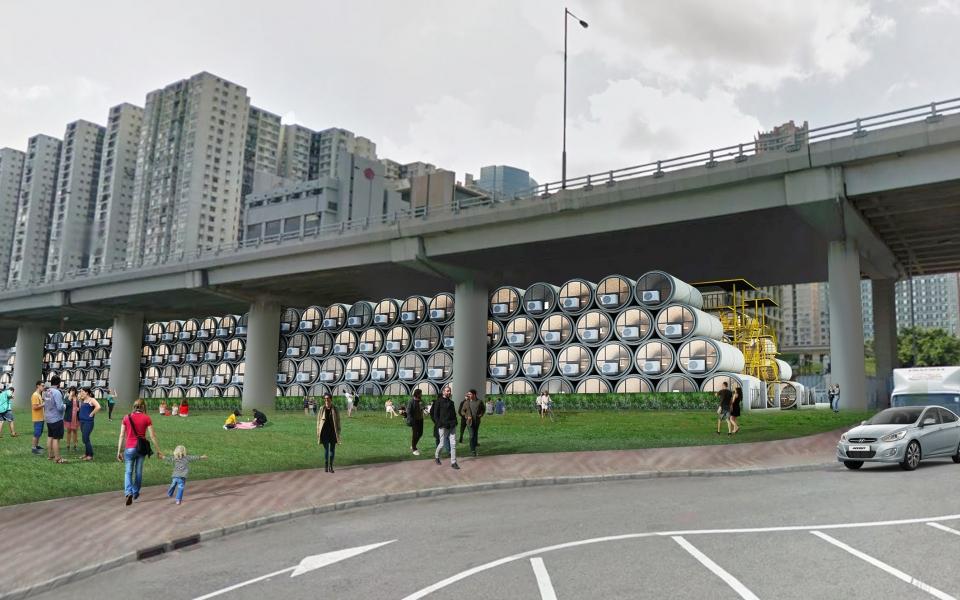 Recreación virtual de los pisos tubería en Hong Kong / opod