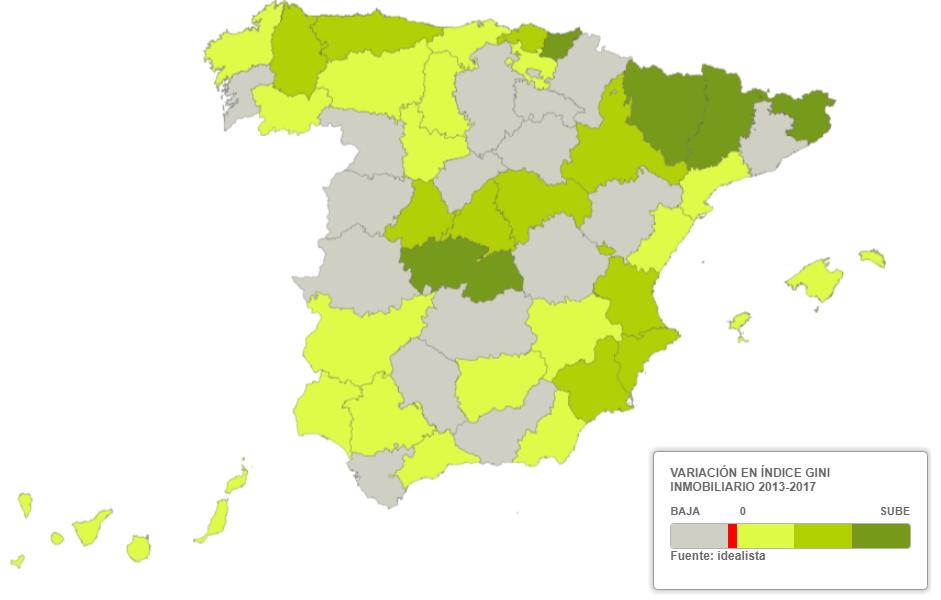La recuperación inmobiliaria aumenta la diferencia de precios en las capitales españolas