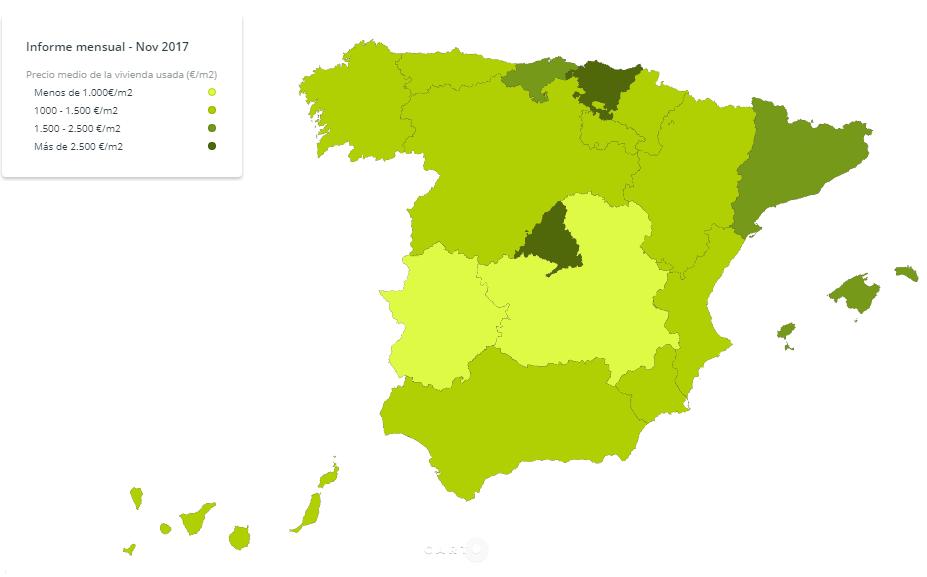 Madrid se convierte por primera vez en la región con la vivienda usada más cara