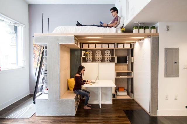 Muebles modulares útiles… sobre todo para pisos pequeños