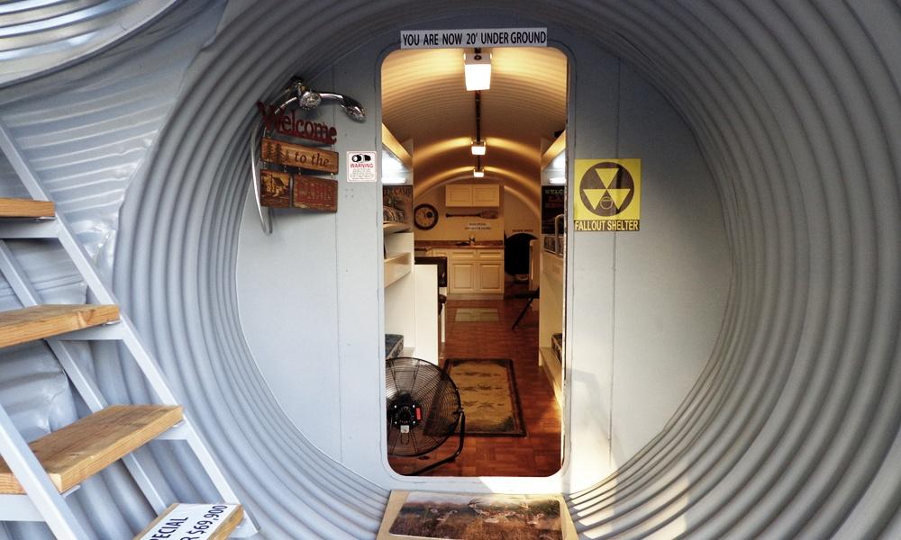 Uno de los modelos construidos por la empresa de búnkeres de California Atlas Shelter / Barcroft Media