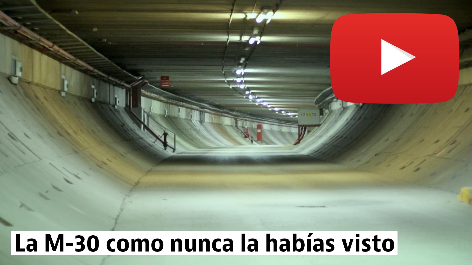Viaje por la zona oculta de los túneles de la M-30 en Madrid