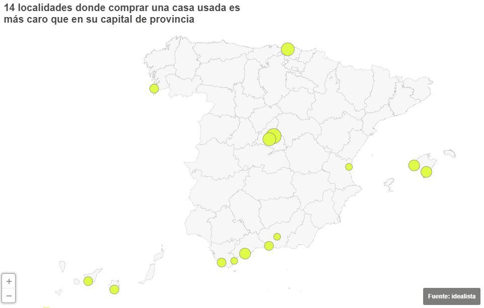 Más allá de la ciudad: los 'pueblos' donde la vivienda es más cara que su propia capital