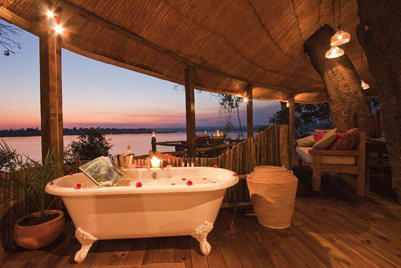 Un baño con unas vistas espectaculares