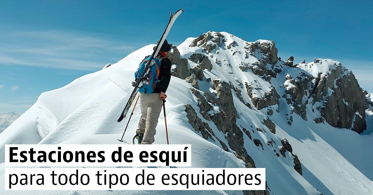 4 estaciones para 4 tipos de esquiadores