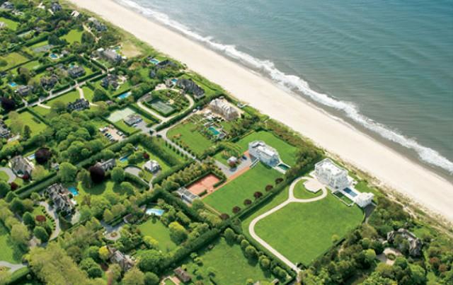 Vista aérea de unas viviendas en Los Hamptons