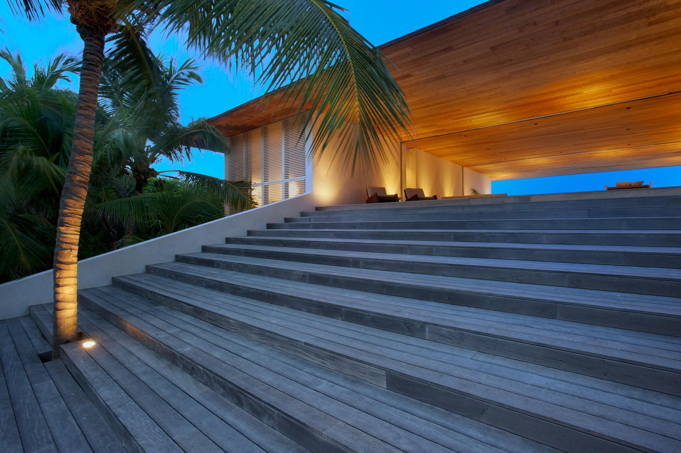 Prácticamente toda la casa es de madera