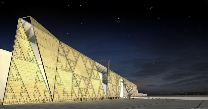 El imponente Museo Arqueológico de Egipto