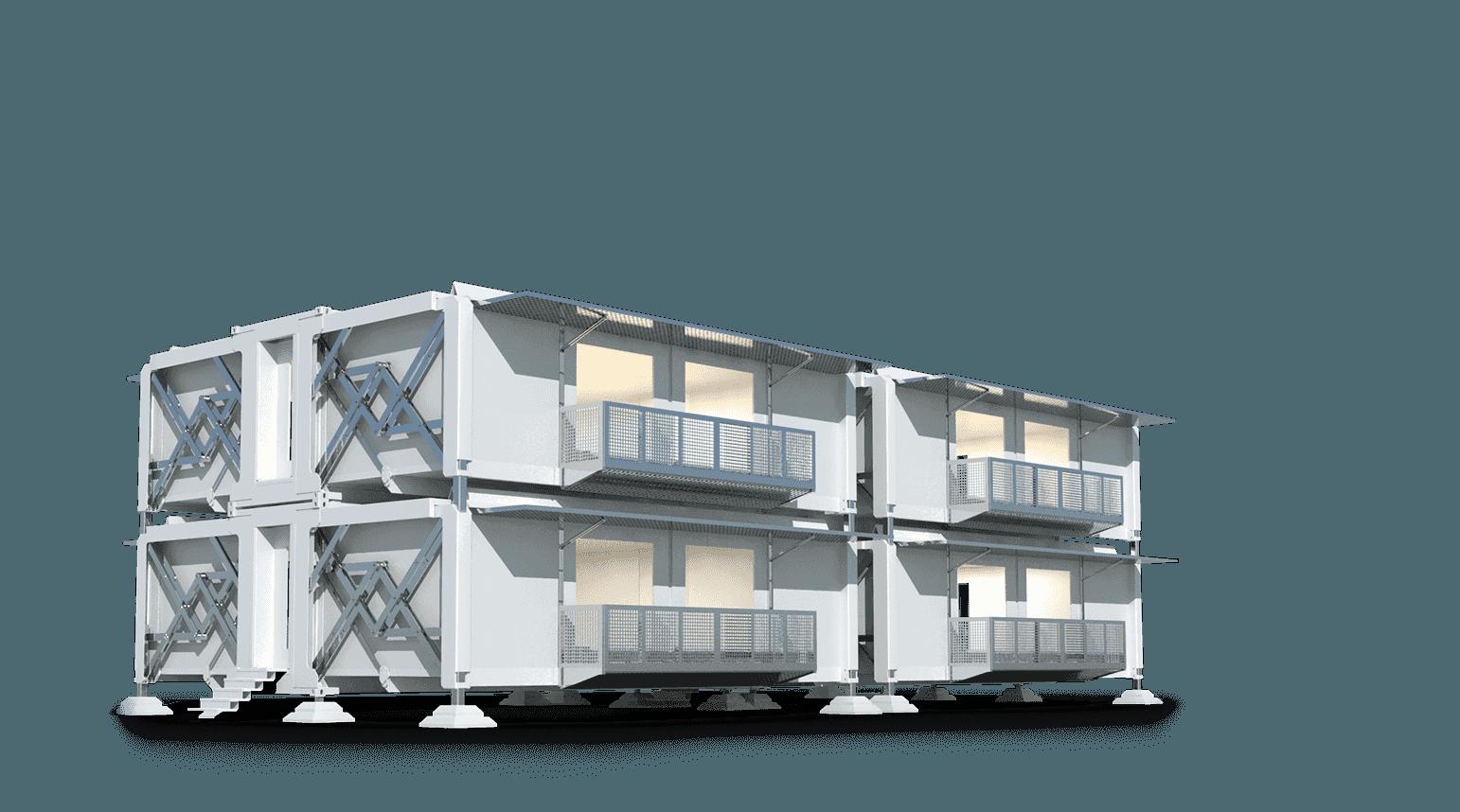 Casas modulares apiladas