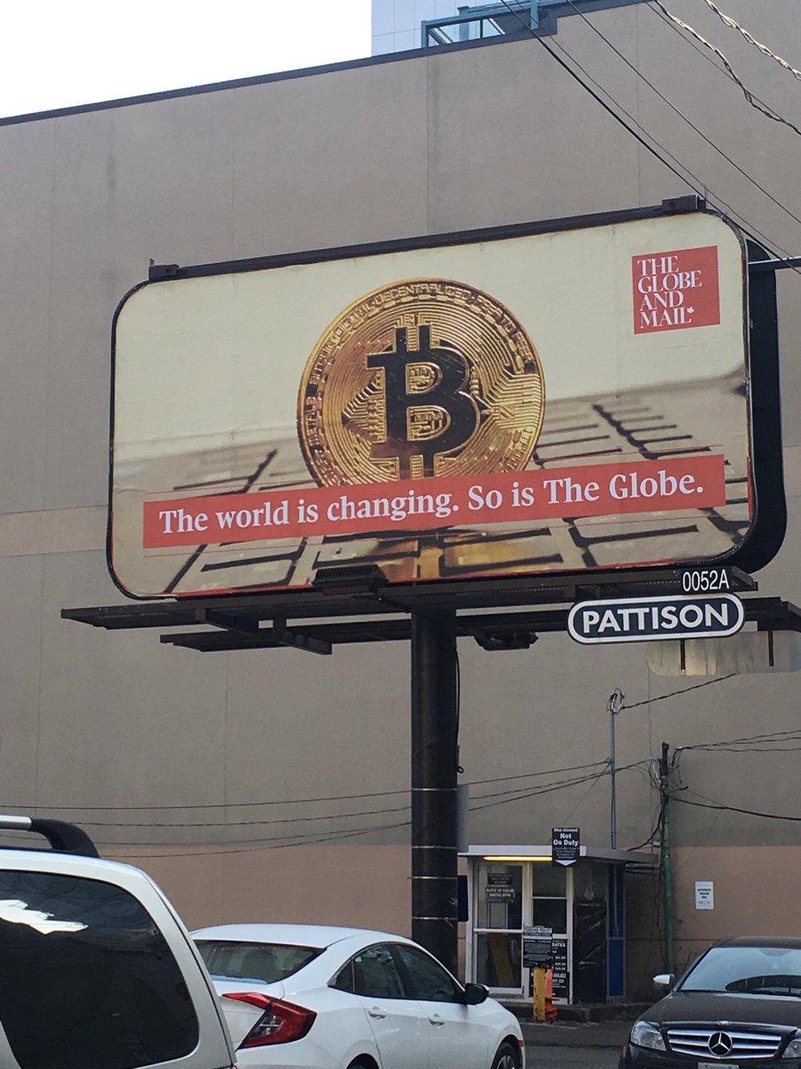 Anuncio de Bitcoin