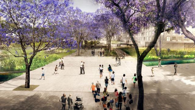 Ferrovial también se adjudica parte de las obras del parque de la Canòpia, de unos 121.139 m2 de pulmón verde. / Ajuntament de Barcelona
